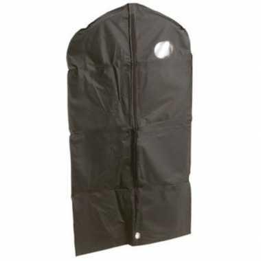 2x zwarte kledinghoes 65 x 160 cm met venster