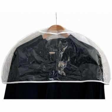 3x doorzichtige beschermhoes voor kleding/kleren 60 cm