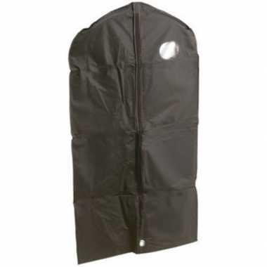 3x zwarte beschermhoes voor kleding/kleren 65 x 100 cm