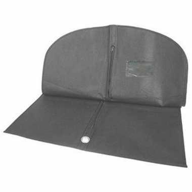 4x zwarte beschermhoes voor kleding/kleren 62 x 113 cm