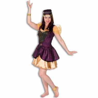 Arabisch dames jurkje goud met paars