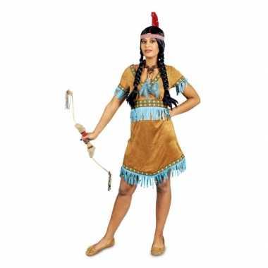Beige korte indianen jurkje
