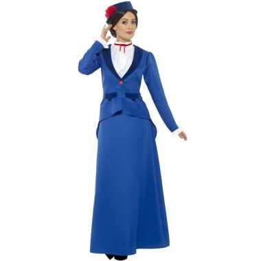 Blauw nanny kostuum voor dames