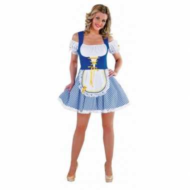 Blauw oktoberfest jurkje voor dames