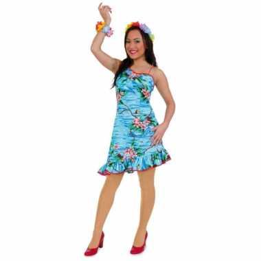 Blauwe hawaii dameskleding