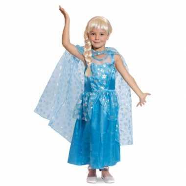 Blauwe ijsprinsessen jurk voor meisjes
