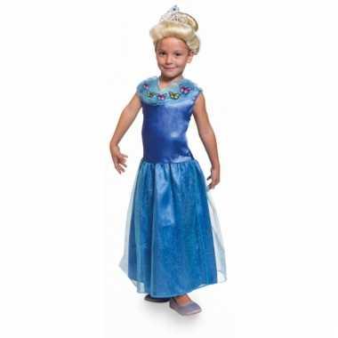 Blauwe prinsessen jurken voor kids