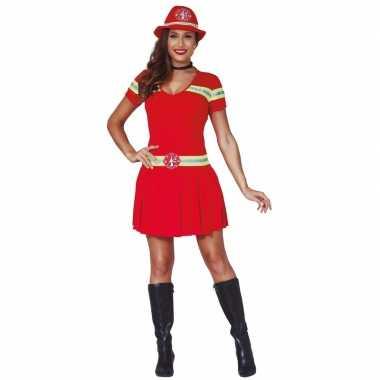 Brandweervrouw kostuum/jurkje voor dames