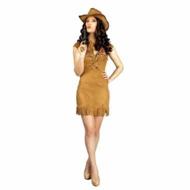 Bruin cowboy jurkje voor dames