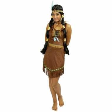 Bruin indianen jurkje voor dames