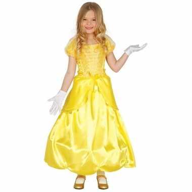 Carnaval prinses jurk geel voor meisjes