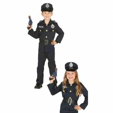 Carnavalskleding politie agent uniform jongens/meisjes