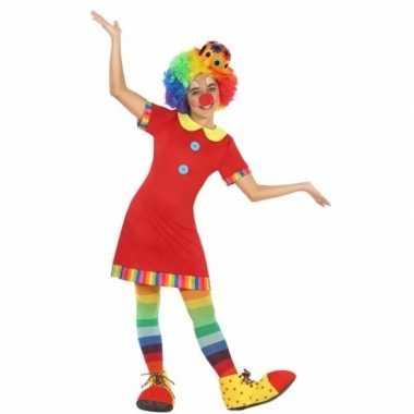 Clown floppy verkleedjurk voor meisjes