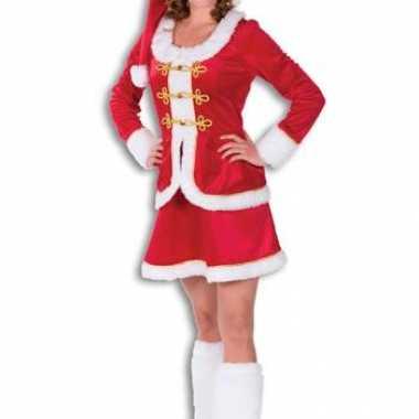 Compleet kerstvrouwen kostuum