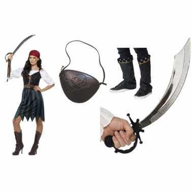 Compleet piraten kostuum voor dames 10108062