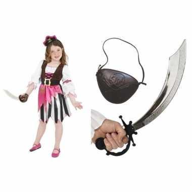 Compleet piraten pakje voor meisjes