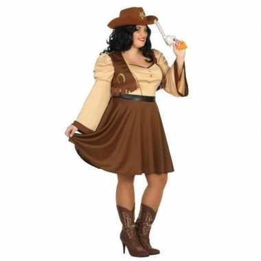 Cowgirl kostuum voor dames plus size