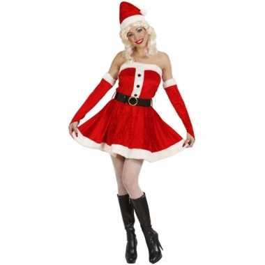 Dames kerstjurkje rood fluweel