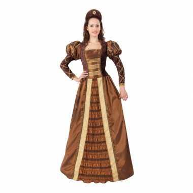 Dames middeleeuwse prinsessen verkleedkleding