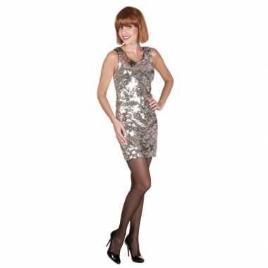 Dazzle jurk zilver met pailletten