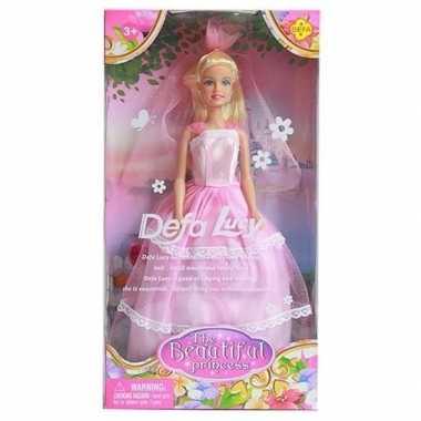 Defa lucy pop met roze prinsessenjurk