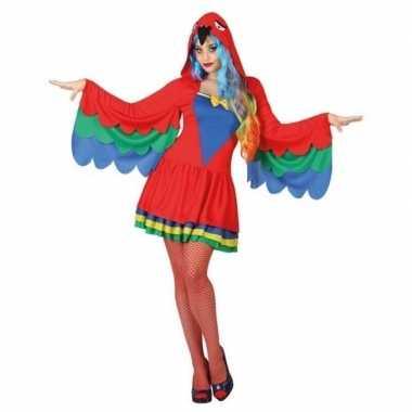 Dieren papegaai verkleed jurkje voor dames