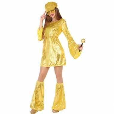Disco 1970s jurkje gouden pailletten voor dames