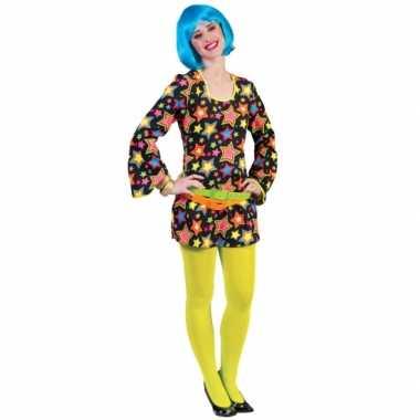 Disco jurkje met felgekleurde sterren