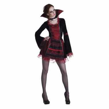 Dracula dames verkleedjurkje met opstaande kraag