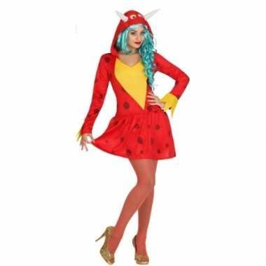 Draken jurkje rood voor dames