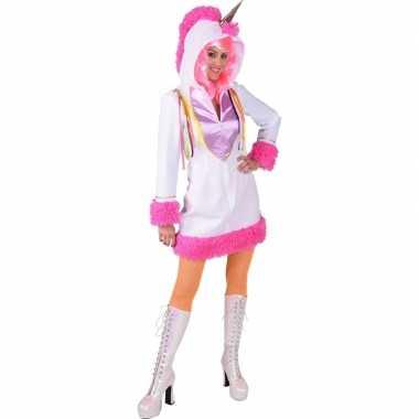 Eenhoorn dieren jurkje wit voor dames