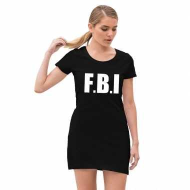 Fbi carnavalsjurkje zwart voor meiden