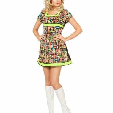 Felgekleurd neon jurkje voor dames