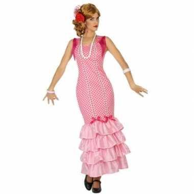 Flamenco danseres jurk roze voor dames