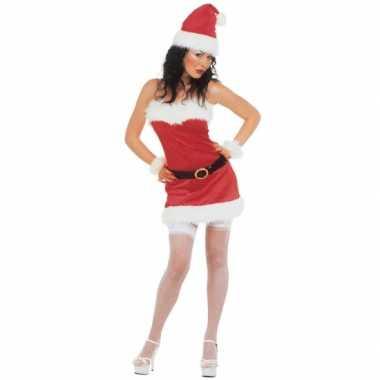 Flanellen kerst kostuum voor dames