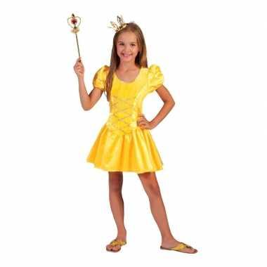 Geel prinsessenjurkje voor meisjes