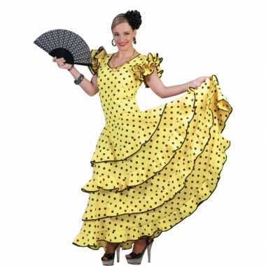 Gele jurk spaanse danseres