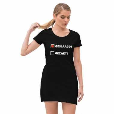 Geslaagd feestje jurkje zwart voor meiden