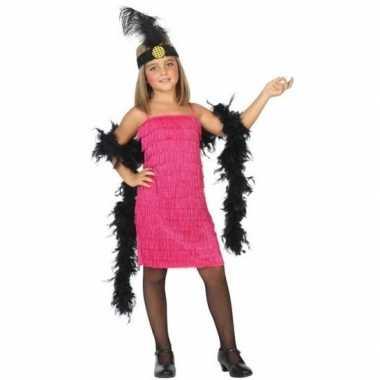 Goedkope jaren 20 charleston jurk roze voor meisjes