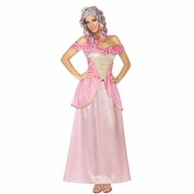 Goedkope roze prinsessen verkleed jurk voor dames