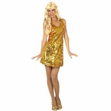 gouden jurk met pailletten
