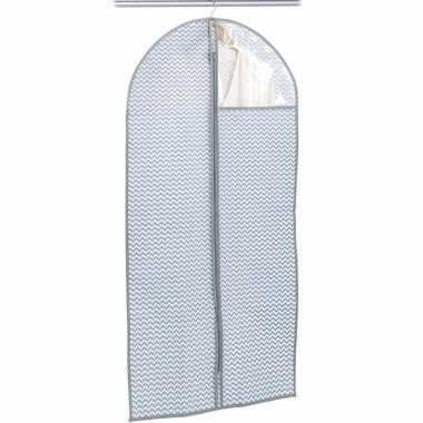 Grijsblauwe beschermhoes voor kleding/kleren 60 x 120 cm