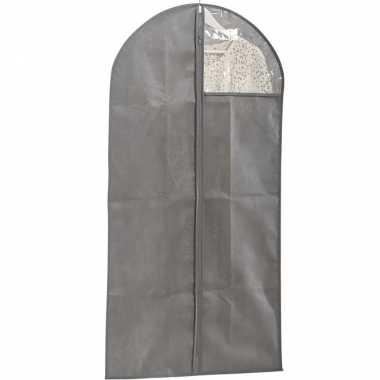 Grijze beschermhoes voor kleding/kleren 60 x 120 cm