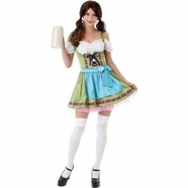Groen bierfeest jurkje/dirndl kostuum voor dames