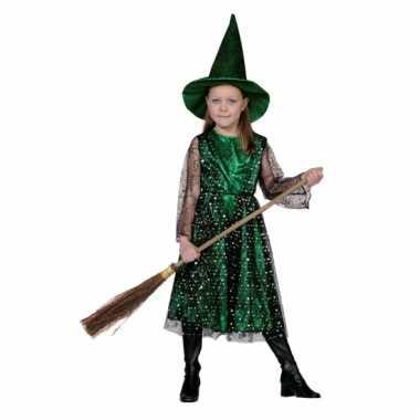 Groene kinder heksenjurk