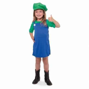 Groene loodgieter outfit voor meisjes