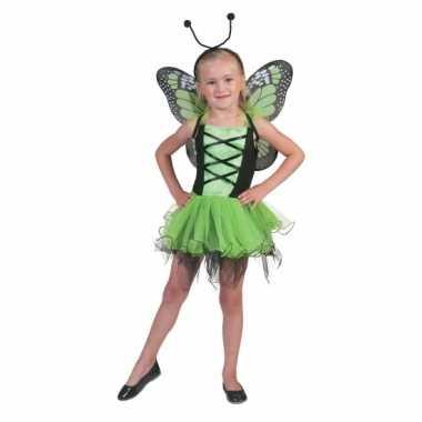 Groene vlinder feeen jurkje voor meisjes