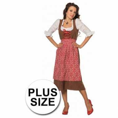 Grote maat tiroler jurk voor volwassenen
