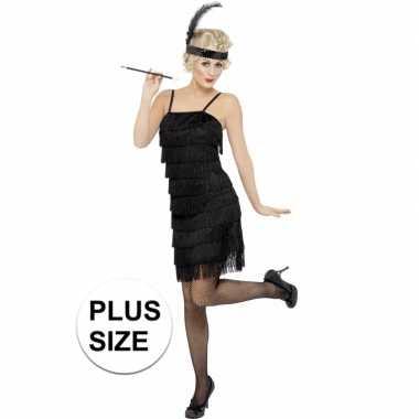 Grote maat verkleed jaren 20 jurkje voor dames