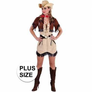Grote maten cowboy jurkje met bolero voor dames